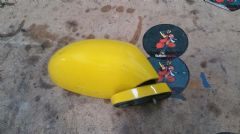 MAZDA MX5 EUNOS (MK2 1998 - 2005) RIGHT HAND MIRROR / RHS / OFF SIDE / YELLOW